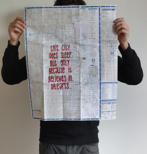 this is not New York, screenprint over cta map. | by NosE la NariZ