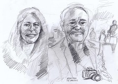 Kline and his daughter for JKPP by Arturo Espinosa