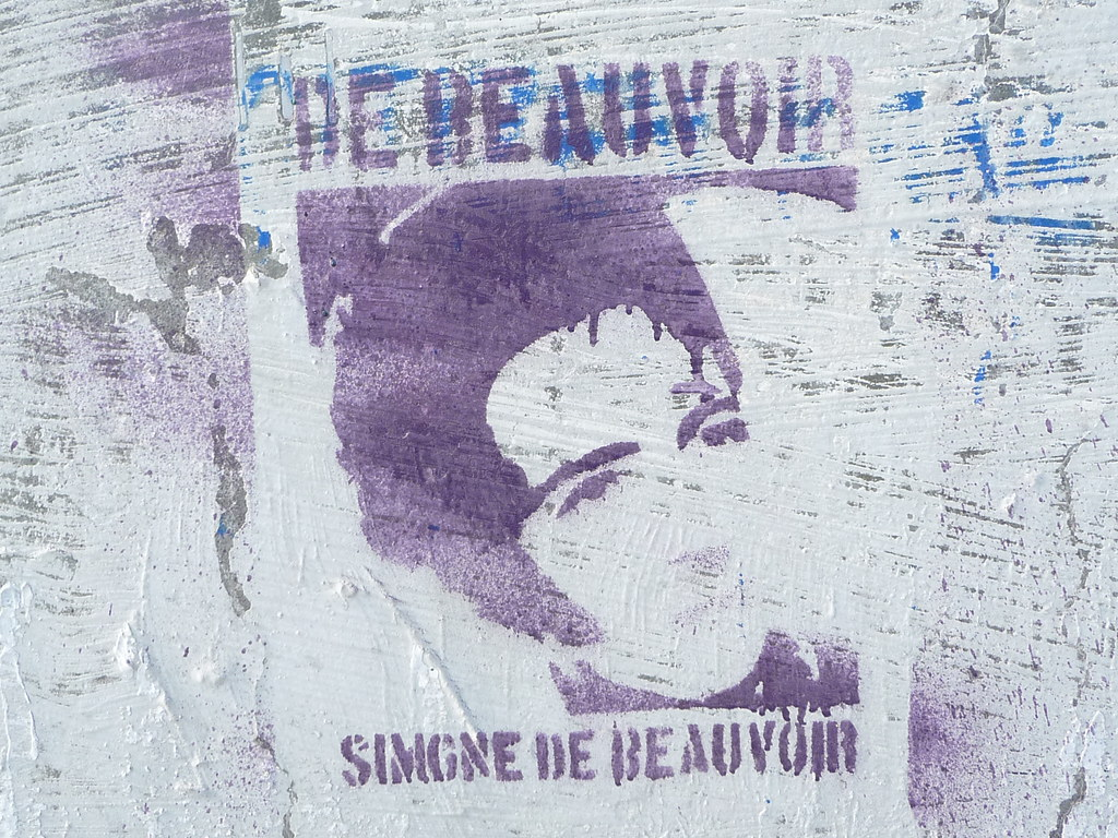 Wall of Femmes: Simone de Beauvoir