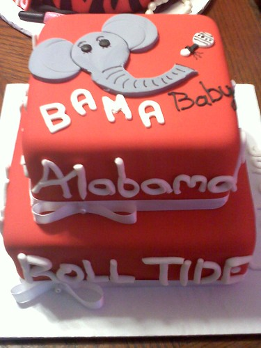 Bama Baby Shower Cake | by JCCupcakes
