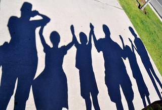 Family silhouette shadows 2