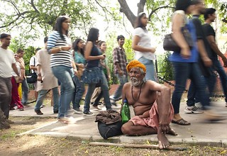 The ascetic and the Slut Walk Delhi, Delhi | by sanjayausta