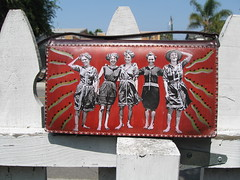 Upcycled Purse, Bathing Beauties 1908