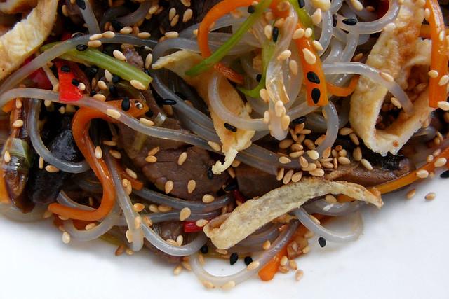 Japchae, Koreaanse zoete aardappel noedel salade