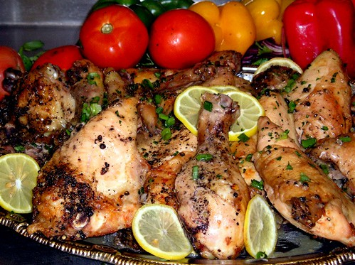 lemon pepper baked chicken | by cottage catering