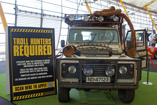 Empire BIG SCREEN : Troll Hunter required! The Troll Hunter's Landrover on display in Studio City