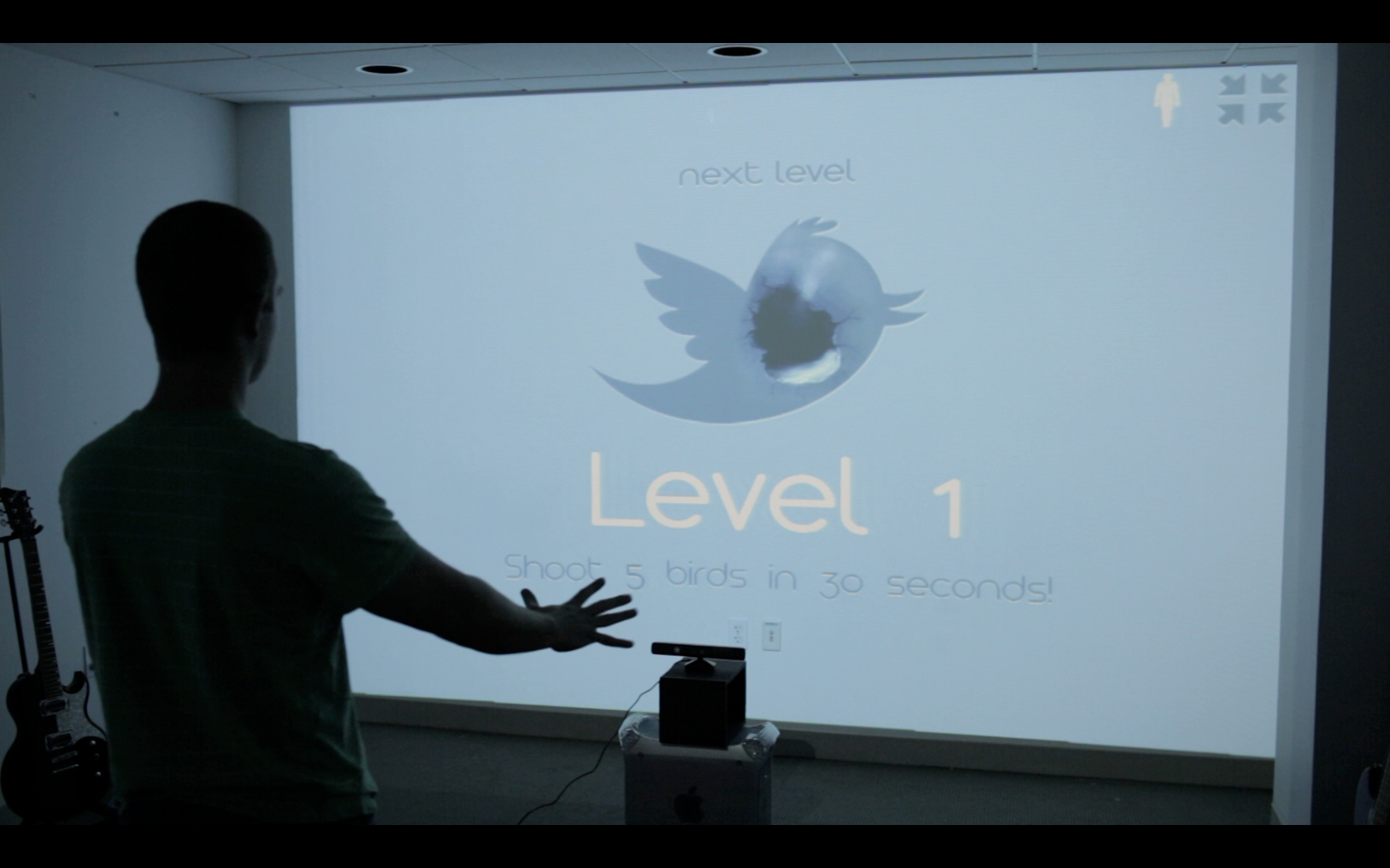 Level Begin screen