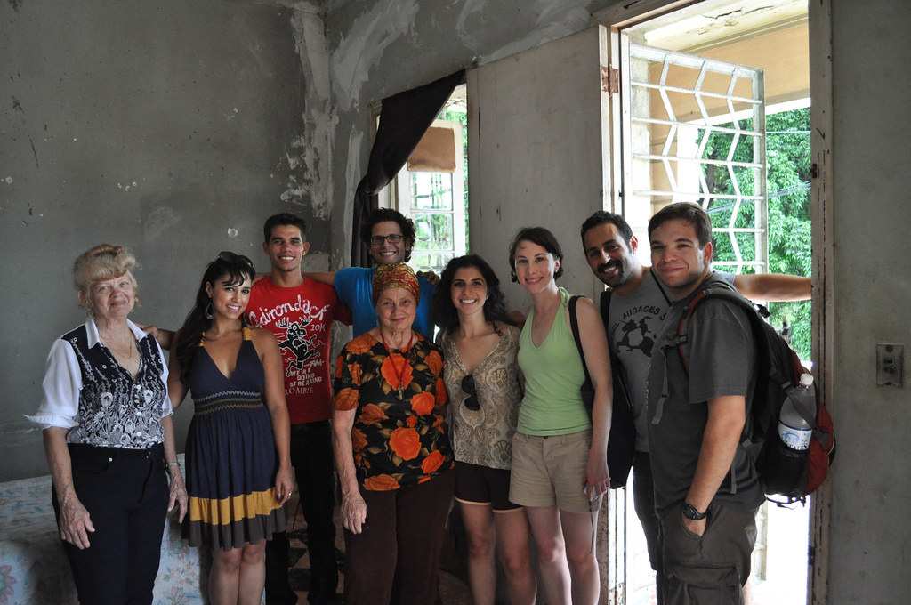 Visiting homes in Havana, Cuba