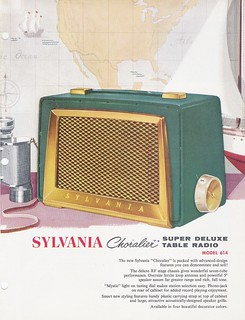 SYLVANIA Super Deluxe Table Radio Model 614 Dealer Sales Sheet (USA 1956)_01 | by MarkAmsterdam