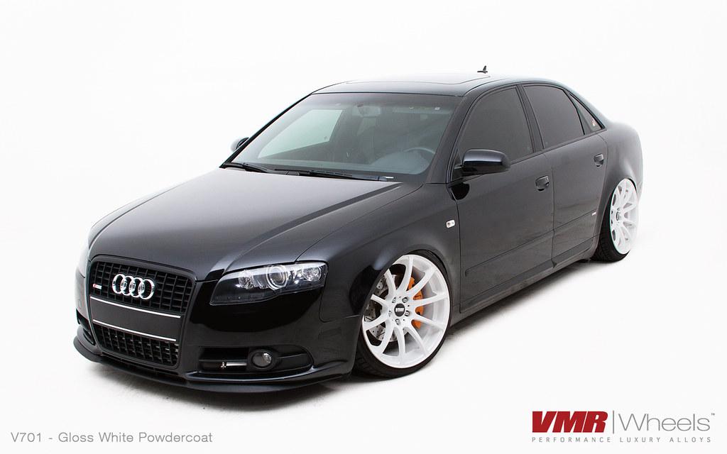"VMR Wheels | 19"" Custom Gloss White Powdercoat V701 o ..."