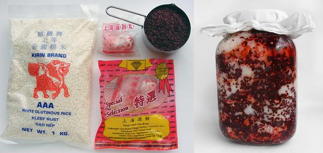 Ingredienten voor Foochow Rijstwijn