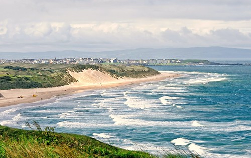 Royal Portrush Golf Club and White Rocks Beach...nicer large on black | by MarsW