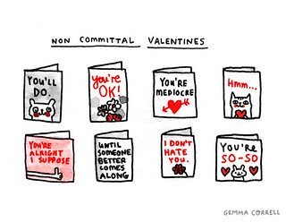 non-committal valentines | by gemma correll