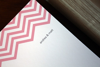 Andrea + Matt's Chevron Stationery | by SweetBeaker
