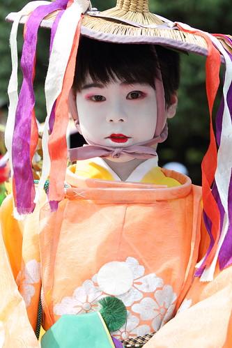 Boy in the festival parade