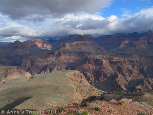 Cloudy views from Skeleton Point, Grand Canyon National Park, Arizona