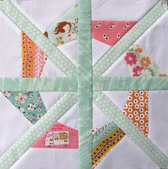 4.x.5.Bee.Block.for.Little.Bluebell  - Aqua, Pink and Orange by Charise *
