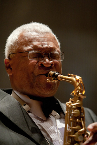Bobby Watson Rehearses with the Concert Jazz Band in Kauffman Center for the Performing Arts | by UMKC-Conservatory