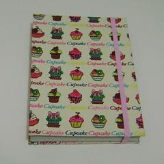 Caderno cupcake by Ana Paula Louvem - Atelier Doce Sabor
