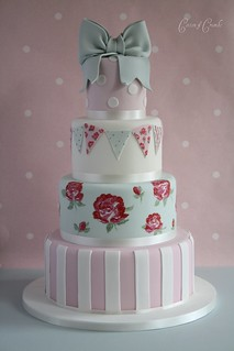 Cath Kidston wedding cake | by Cotton and Crumbs