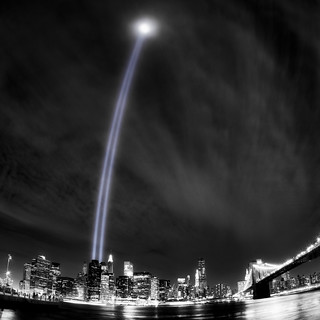 9/11 tribute in light | by Mike Orso