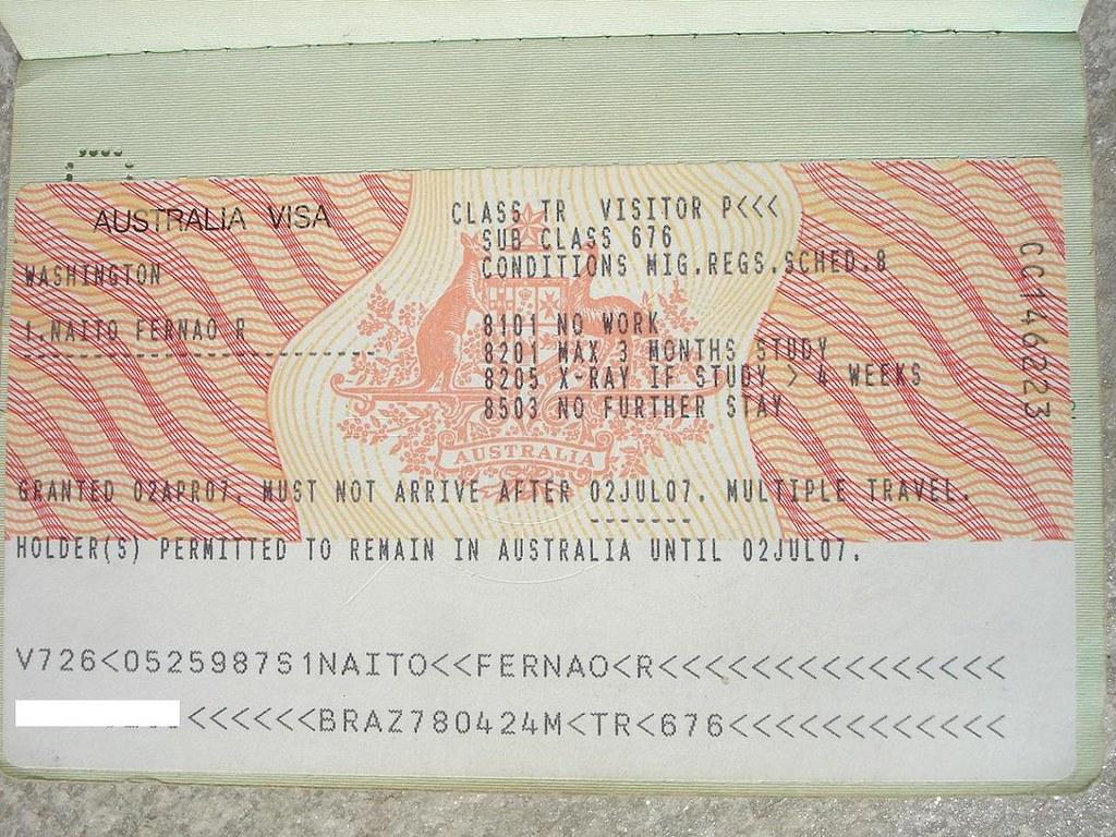 Austrália / Australia visa