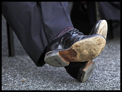 David Cameron's shoes ~ by The Guardian on Flickr