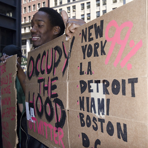 Occupy Wall Street Series - The Hood | by Bob Jagendorf
