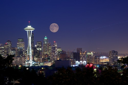 Seattle Moon | by britta heise