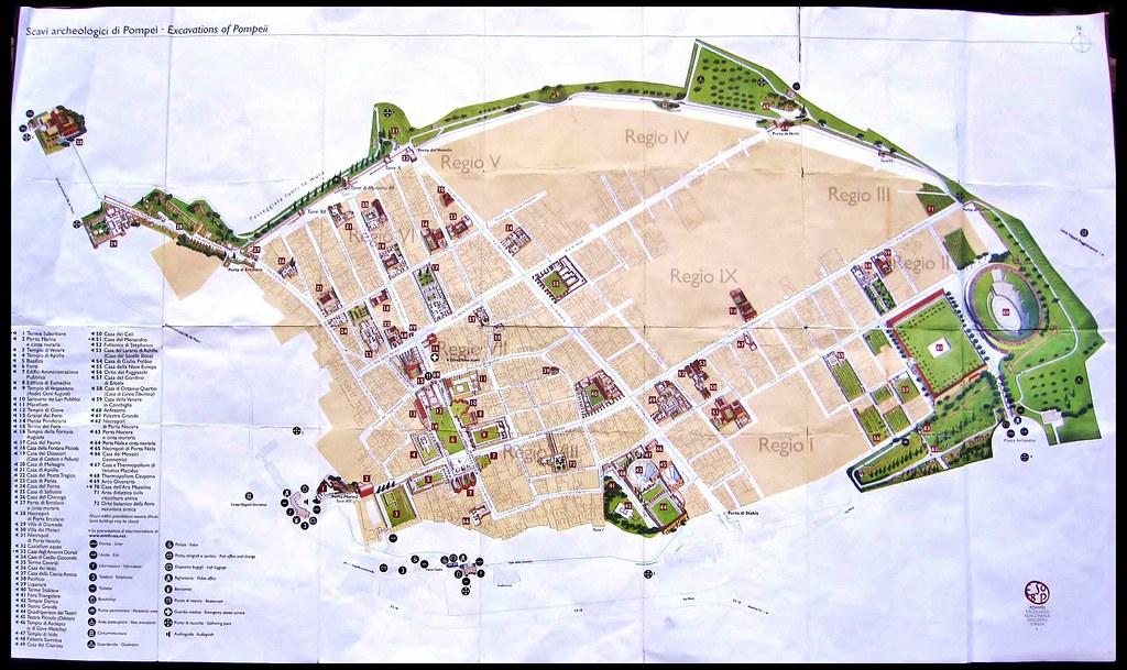 Pompeii Map Google my Map of Pompeii Flickr