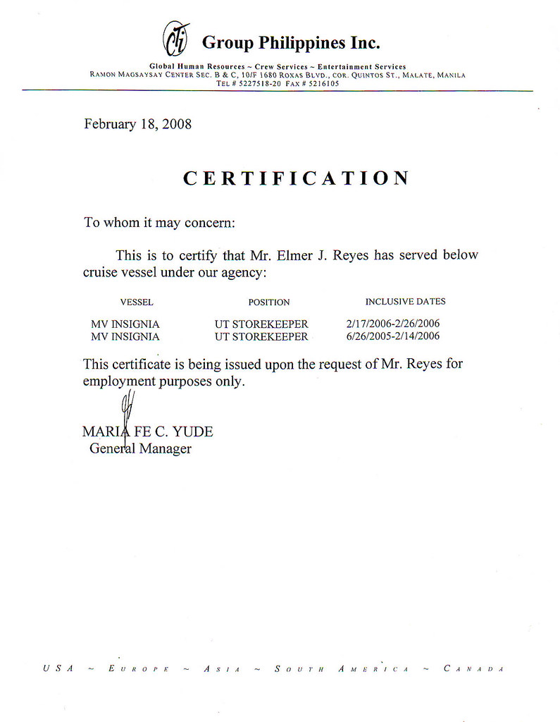 My Certificate of Employment and Other Scanned Documents ...
