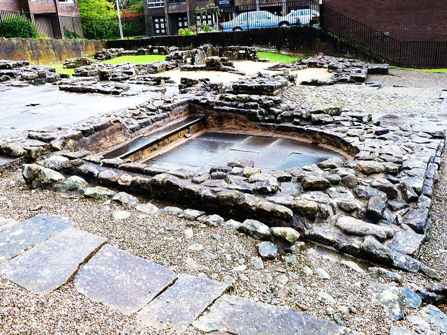 Roman Baths at Bearsden, Glasgow, Scotland