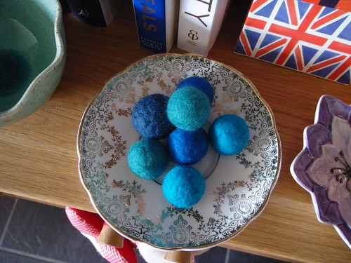 Wet felted balls | by ::Christine::