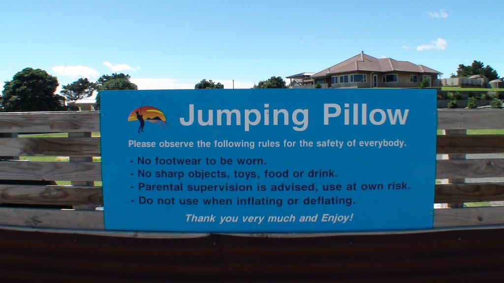 Jumping Pillow Sign