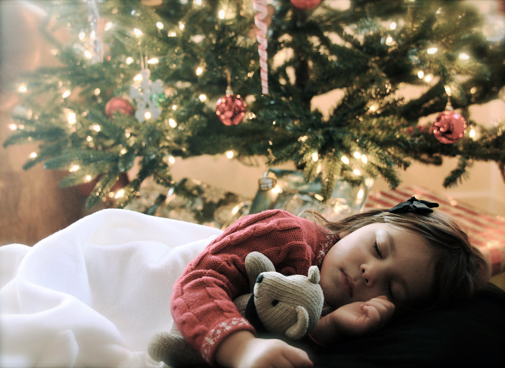 durmiendo en el arbolito