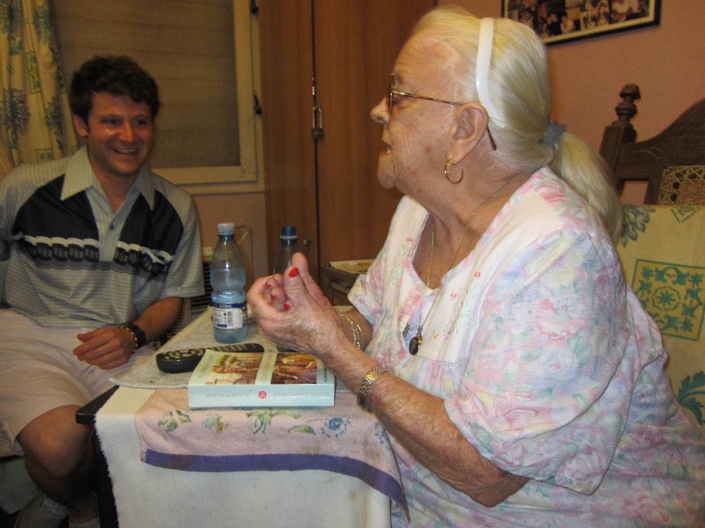 Brazen Grandma at paladar La Casa, Havana, Cuba