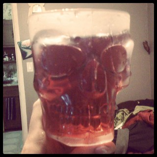Delicious cranberry skull goblet. The only way to feast on my enemies. | by dowell.melissa