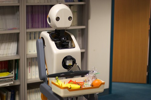 SnackBot delivering snacks in Newell-Simon Hall | by jiuguangw