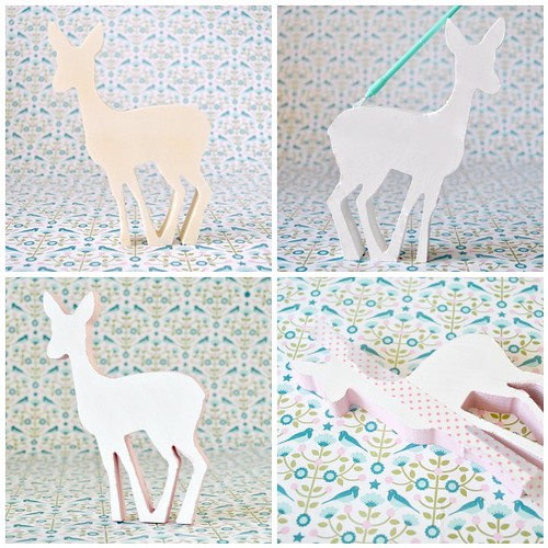 Polka dot wooden deer steps 1-4 | by toriejayne