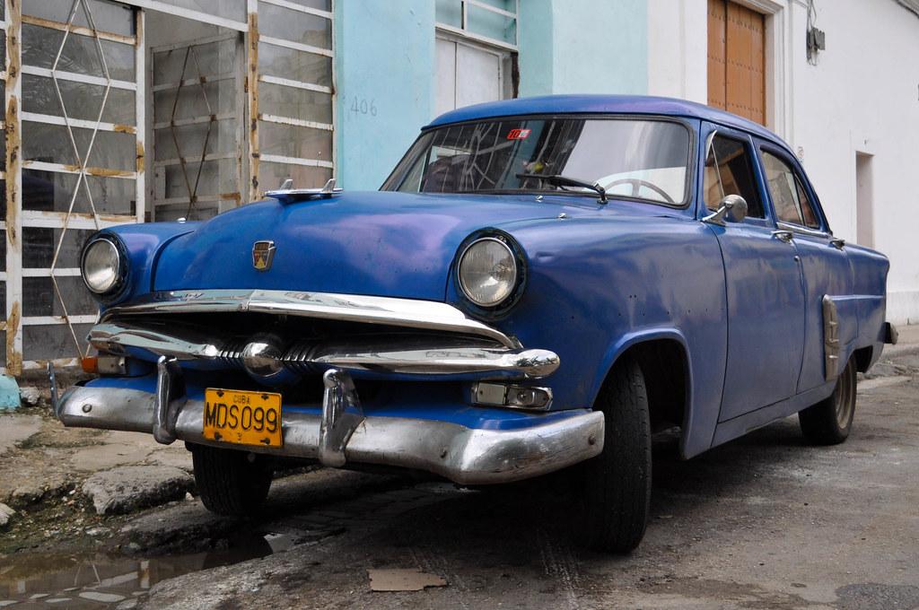 Beautiful Blue Ford, Havana, Cuba