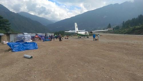 Flight in Himalayas