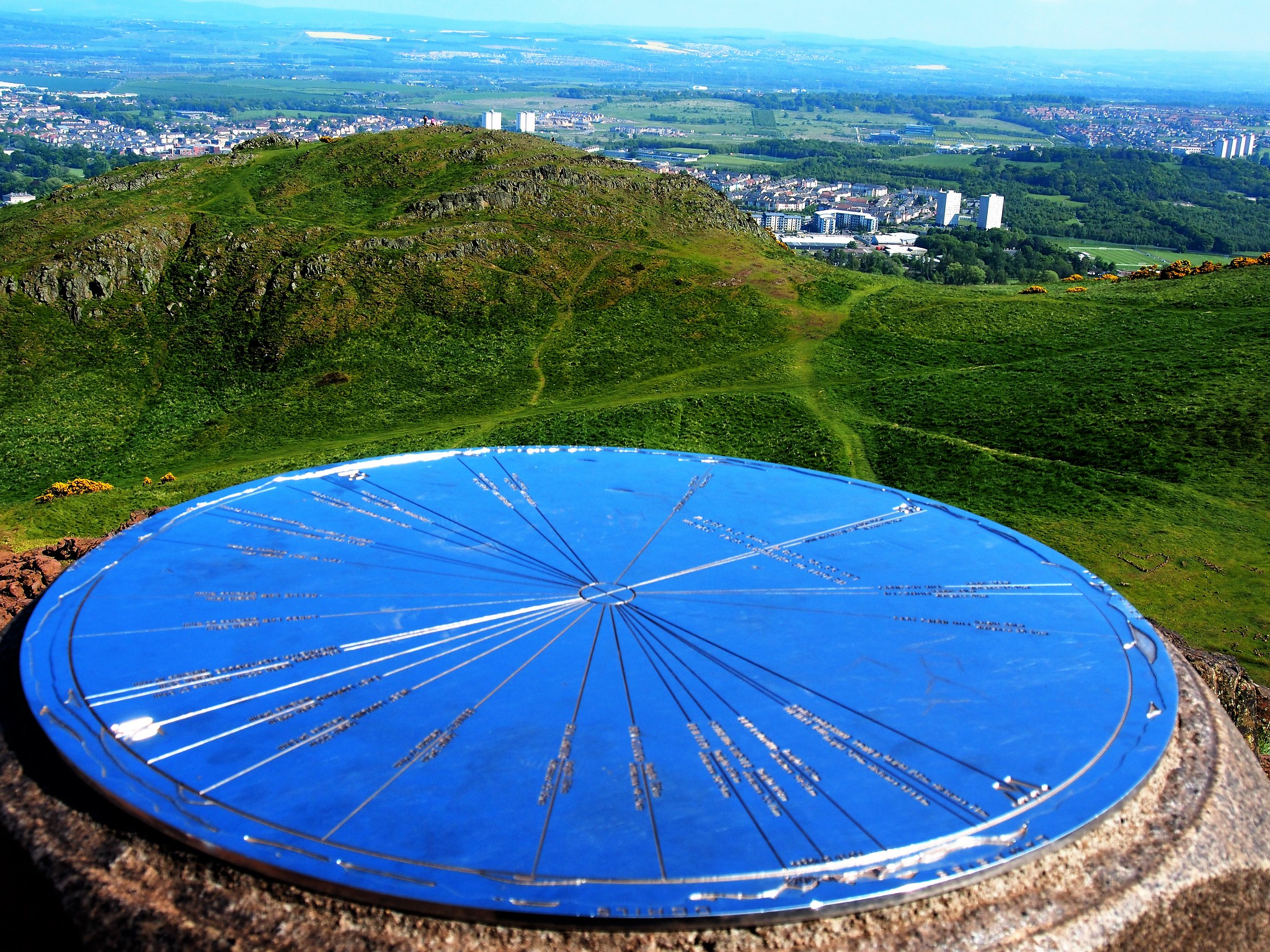 View from summit of Arthur's Seat, Holyrood Park, Edinburgh.
