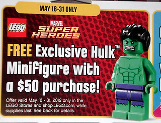 Exclusive Hulk Minifigure with $50 LEGO S@H Purchase May 16th-31st | by fbtb