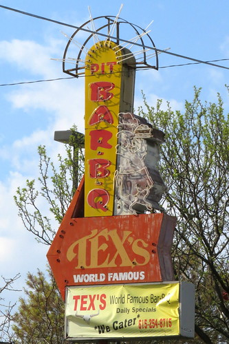 Tex's Bar-B-Q neon sign - Nashville, TN
