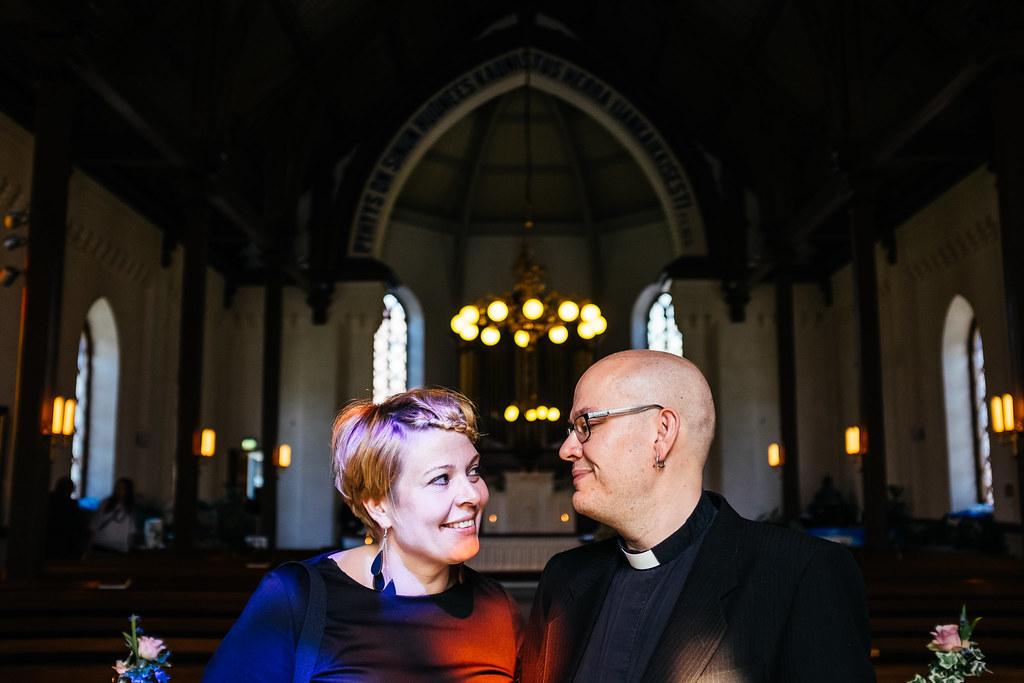 Cantor Sanna Ketola and reverend Jussi Laine. Photo: Antti Yrjönen 2016