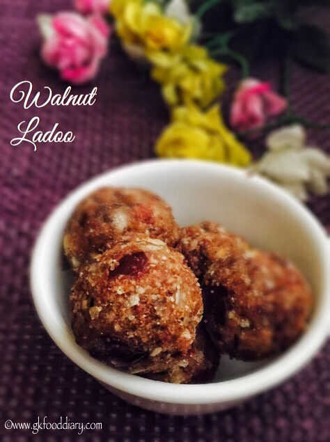 Walnut Ladoo Recipe For Babies, Toddlers and Kids3