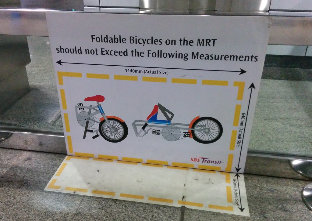 Singapore MRT: Foldable bicycle dimensions