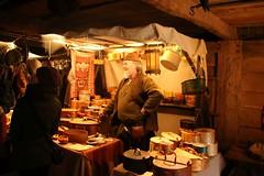 Hannes Hirsch aus Schweden mit seinen Spanschachteln auf dem 6. Frühjahrsmarkt in Haithabu - Museumsfreifläche Wikinger Museum Haithabu WHH 26-03-2016