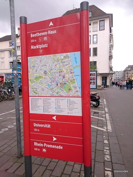 sign in Bonn