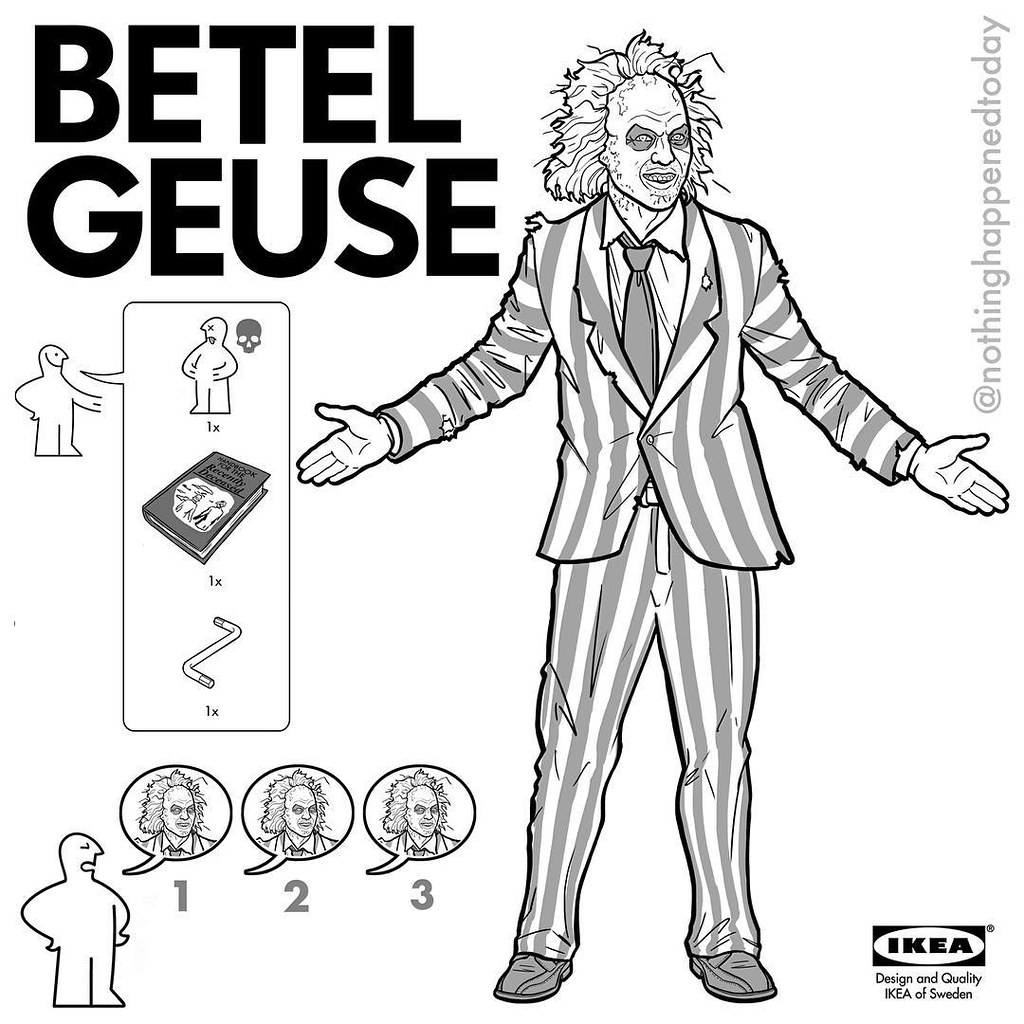 IKEA Instructions for Horror Fans - Beetlejuice by Ed Harrington